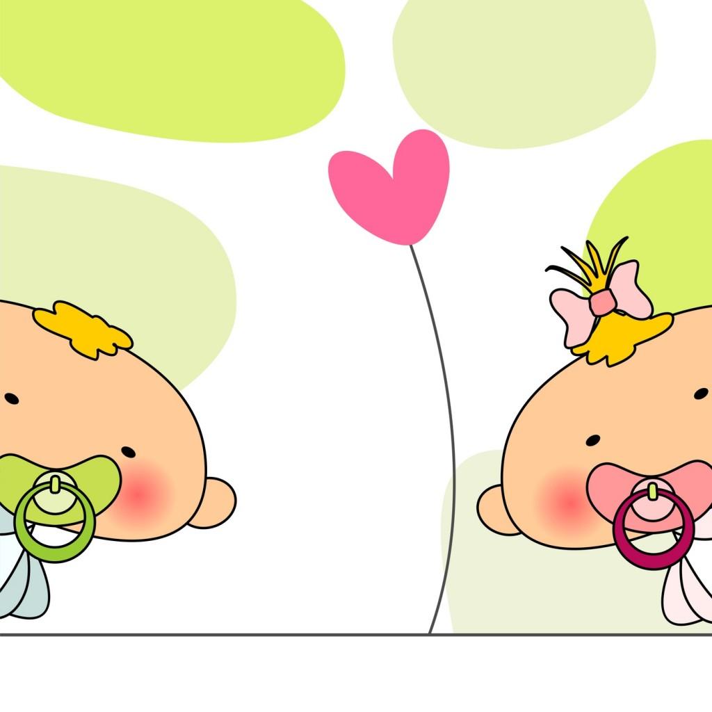 Danksagungskarte für Zwillinge: Die Optik bleibt jedem selbst überlassen - hier gibt es im Internet auch viele, tolle Beispiele. (#01)