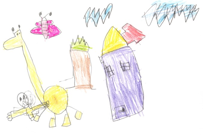 Ist das Kind mit dem Malen fertig, kann man die Kreativität zusätzlich fördern, indem man mit dem Kind über die Zeichnung spricht und eine schöne und spannende Geschichte mit dem Kind erfindet. (#2)Ist das Kind mit dem Malen fertig, kann man die Kreativität zusätzlich fördern, indem man mit dem Kind über die Zeichnung spricht und eine schöne und spannende Geschichte mit dem Kind erfindet. (#2)