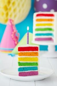 Bunt, bunt, bunt ... ist die Geburtstagstorte. Kleinen Kindern kann die Kindergeburtstagstorte niemals zu bunt sein. (#01)